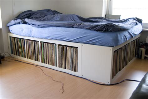 Record Cabinet Ikea by Expedit Bed Frame Ikea Hackers Ikea Hackers