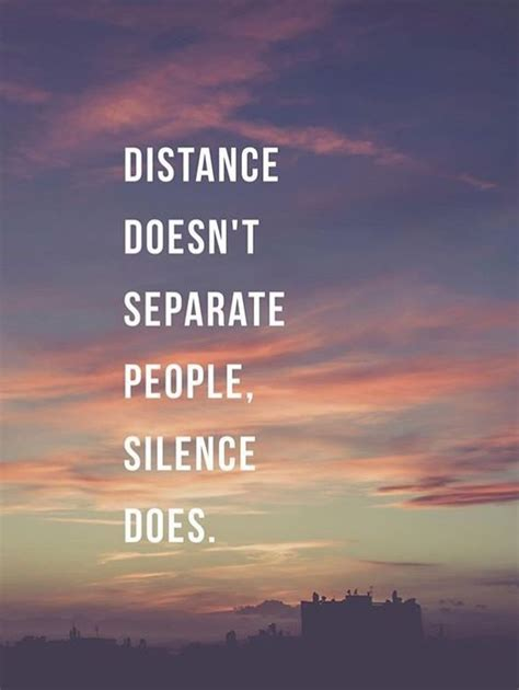 distance doesnt separate people silence  pictures