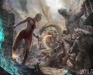 ULTRAWOMAN VS GODZILLA/KING GHIDORAH/GAMERA/ANGIRU by ...