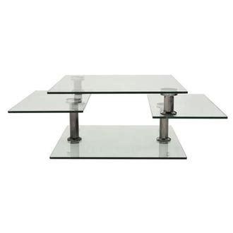 square clear silver motion coffee table el dorado furniture