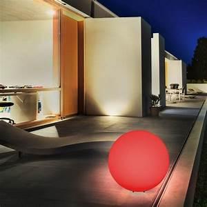 Solarkugel 40 Cm : esotec solar kugelleuchte mega ball 40 cm 7 farbiger ~ Watch28wear.com Haus und Dekorationen