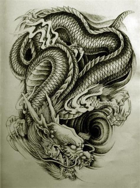 awesome  weird oriental dragon tattoo designs drachen