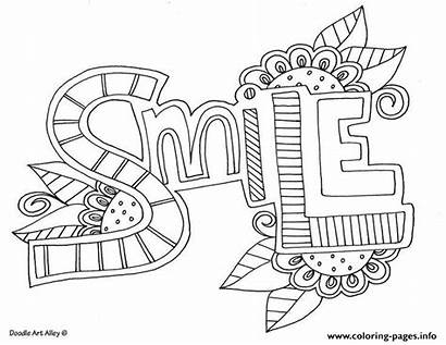 Coloring Smile Pages Word Printable