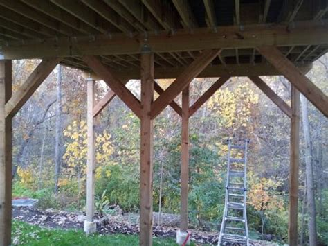 help with sway in a tall and long deck doityourself com