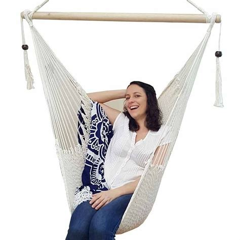 Cotton Hammock Chair by White Cotton Rope Hammock Chair With Tassels Bho