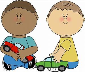 Boys Playing with Trucks Clip Art - Boys Playing with ...