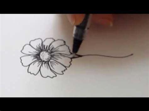 draw  flower daisy tutorial youtube