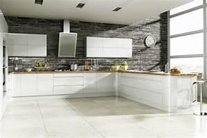 la cuisine blanche le blog des cuisines With papier peint pour cuisine blanche