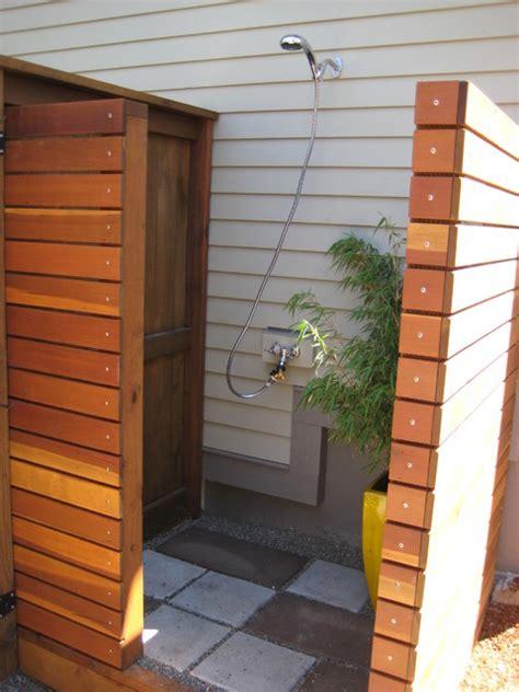 outdoor shower exterior  conscious construction