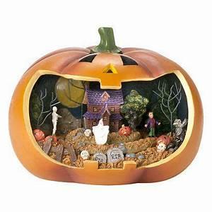 Qvc Halloween Lights A Whole Village Scene Inside A Pumpkin My Scary