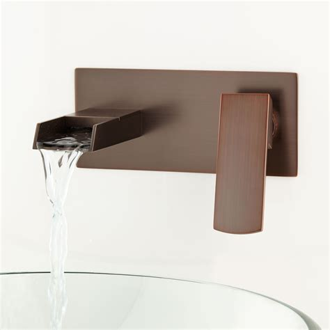 wall mounted faucet broeg wall mount waterfall faucet bathroom sink faucets
