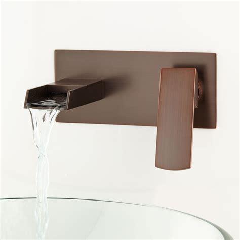 wall mount bathroom sink faucet broeg wall mount waterfall faucet wall mount faucets