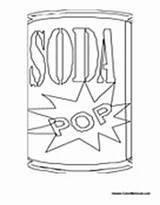 Soda Coloring Pepsi Drinks Pages Pop Template Colormegood sketch template