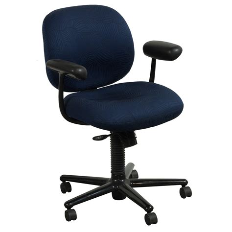 herman miller ergon used mid back task chair blue leaf