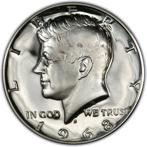 value of kennedy half dollars 1968 kennedy half dollar values and prices past sales coinvalues com