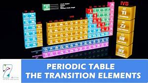 Periodic Table  The Transition Elements