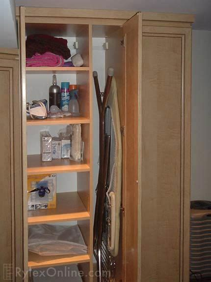 ironing board cabinets home depot ironing board closet storage home decor ideas