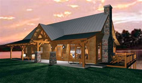 open concept timber frame design   family cabin