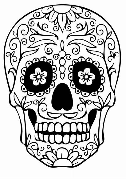 Skull Coloring Pages Printable Dead Skulls Adult