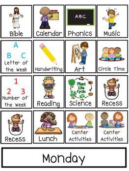 preschool interactive daily schedule chart preschool prek