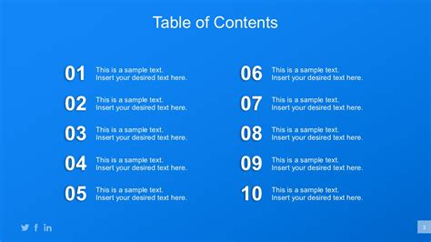 powerpoint table of contents template business plan powerpoint templates