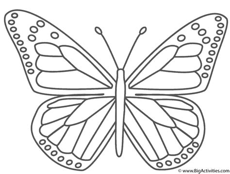 Coloring Images Of Butterflies monarch butterfly coloring page insects