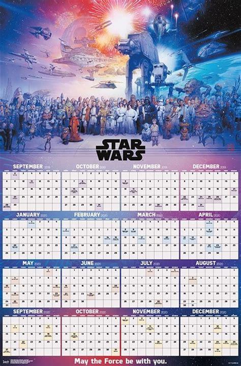 poster calendar star wars saga galaxy