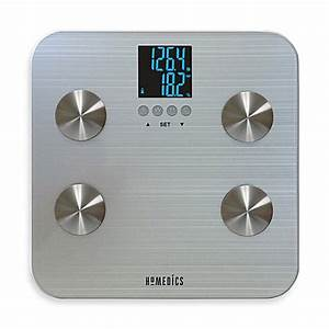 Homedicsr 531 healthstationr body fat bathroom scale bed for Bathroom scales at bed bath and beyond