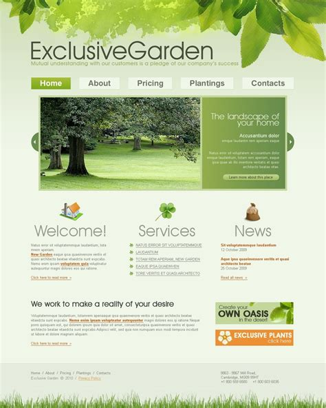 garden planning website garden design website template 27430