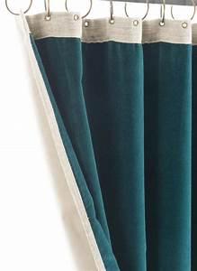 Double Rideau Bleu : rideau m dicis 130x280 en velours bleu ~ Teatrodelosmanantiales.com Idées de Décoration