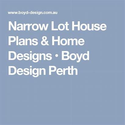 Narrow Plans Boyd Lot Perth Floor Undercroft