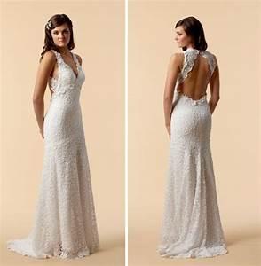 vintage lace wedding dress open back ipunya With wedding dress with lace back
