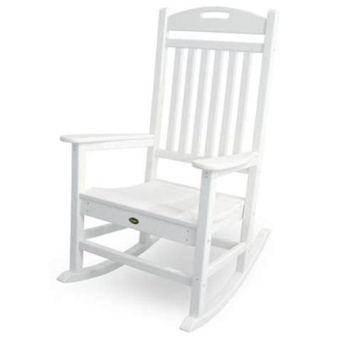 trex outdoor furniture yacht club classic white patio rocker