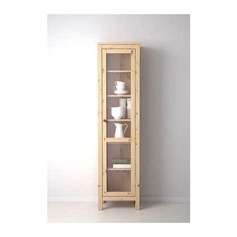 hemnes glass door cabinet light brown 49x197 cm ikea