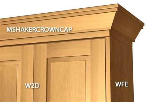 3 piece shaker crown molding with backer and cap