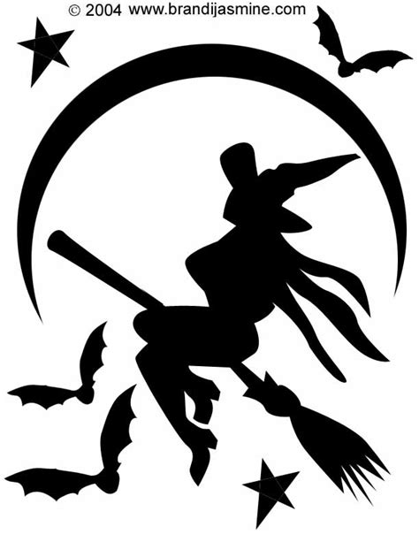 pumpkin witch carving halloween stencil patterns pattern pumpkins carvings stencils lantern jack cat template designs pumkin trace carve traditional