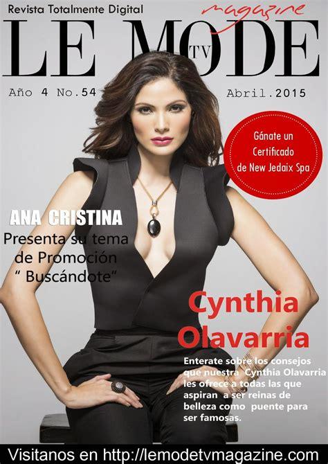 Le Móde Tv Magazine Cynthia Olavarría