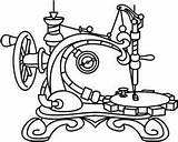 Sewing Machine Embroidery Steampunk Designs Coloring Drawing Patterns Pages Tattoo Paper Stitch Outline Singer Featherweight Adult Urban Threads Hand Urbanthreads sketch template