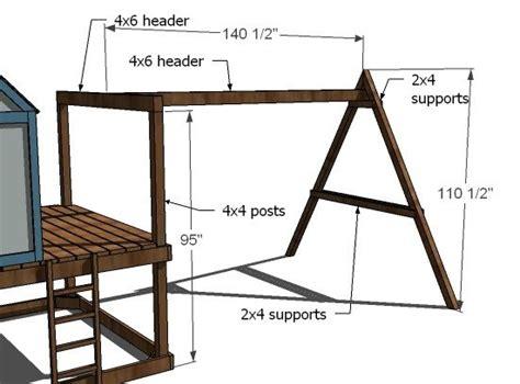 woodwork wooden playhouse swing set plans  plans