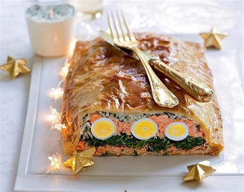 cuisine de de noel recette facile koulibiac de saumon