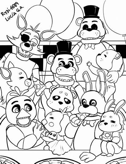 Freddy Nights Five Coloring Pages Rydi1689 Fnaf