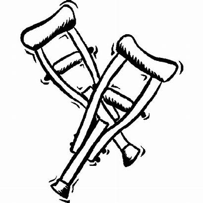 Coloring Crutches Hospital Pages Clipart Colouring Printable
