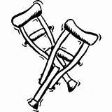Coloring Crutches Hospital Krukken Gebroken Clipart Kleurplaat Kleurplaten Colouring Ziekenhuis Printable Clip Van Doctor Voor Als Je Library Popular Zo sketch template