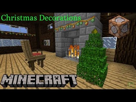 minecraft 1 11 christmas decorations only two commands