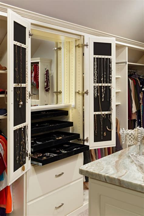 Glorious Locking Jewelry Armoire with Accessories Slide