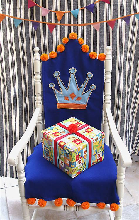 Crown Royal Chair Cover by Olive Diy Felt Birthday Chair Slipcover