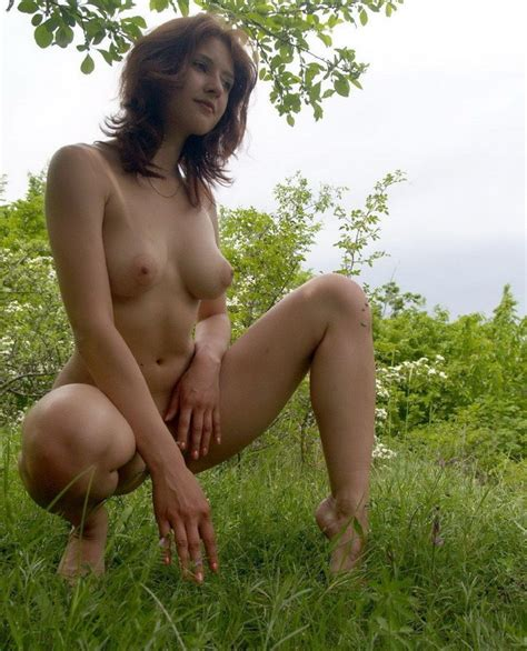 Busty girl outdoors in the woods | Russian Sexy Girls