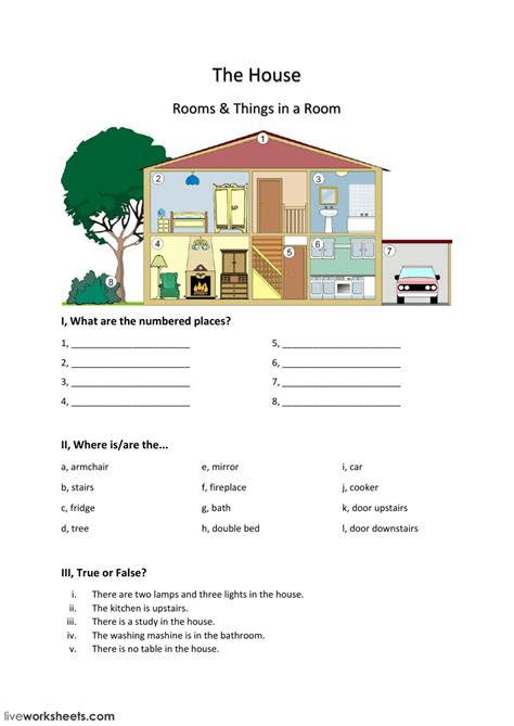 house interactive worksheet