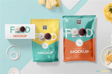 Here you can get this. Download This Set of Food Packaging Mockup in PSD ...