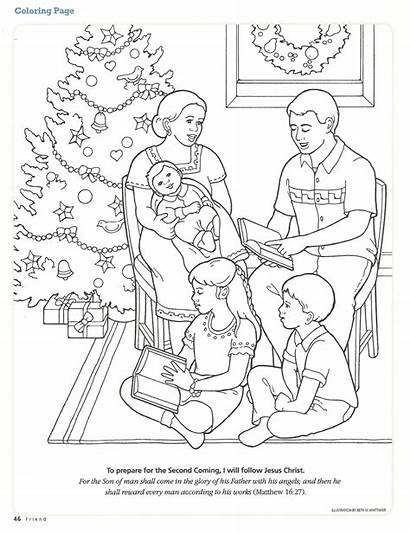 Coloring Nativity Christmas Pages Primary Lds Non